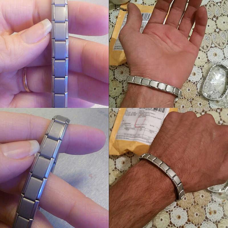 Venda quente moda turmalina de aço inoxidável pulseiras magnéticas para mulheres masculino bio cuidados de saúde pulseira & pulseira