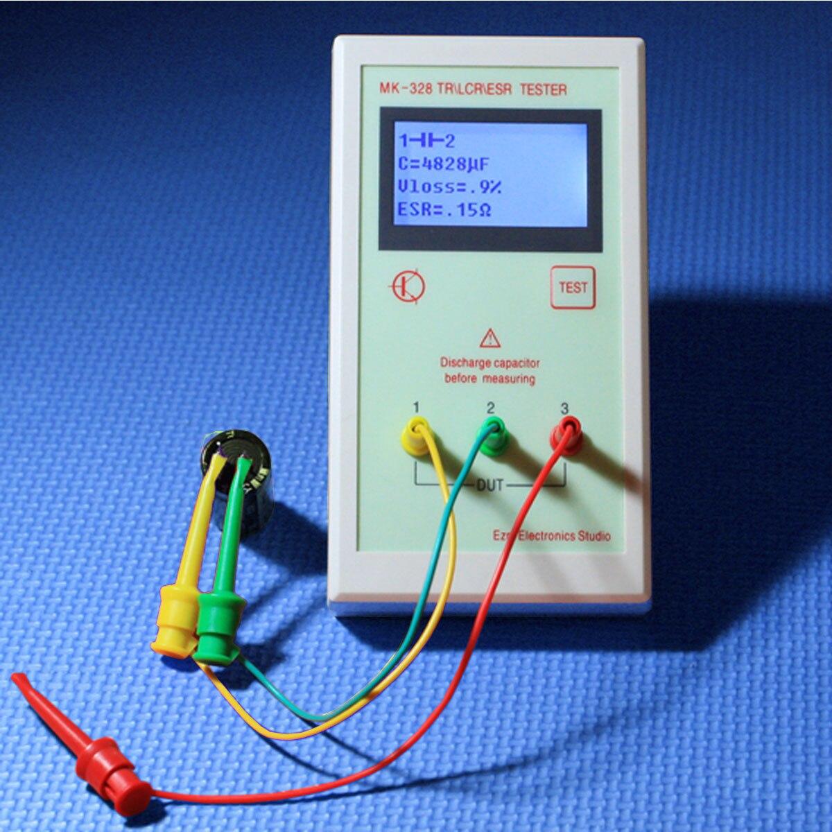 Digital Multimeters Transistor Tester Capacitor ESR Inductance Resistor Meter LCR NPN PNP MOS Capacitance Resistance Tester