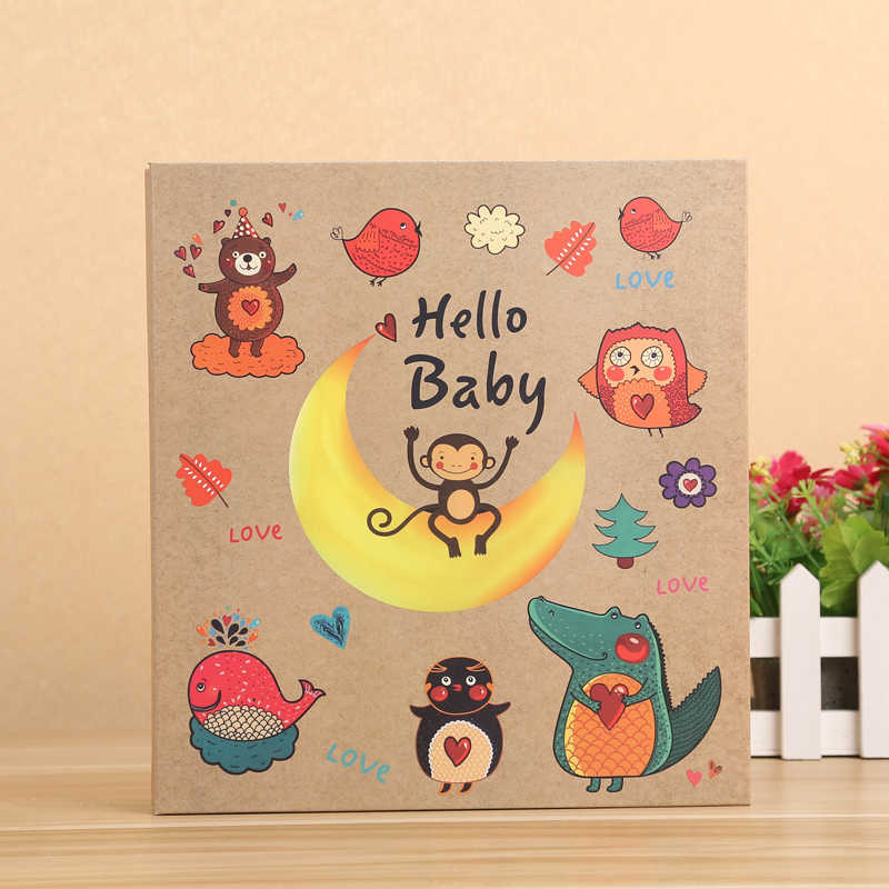 200 Pockets 5 Inch Photos and 100 Pockets 6 Inch Photos Photo Album Wedding Baby Kids Cartoon Photo Album for 5, 6 Inch Photos