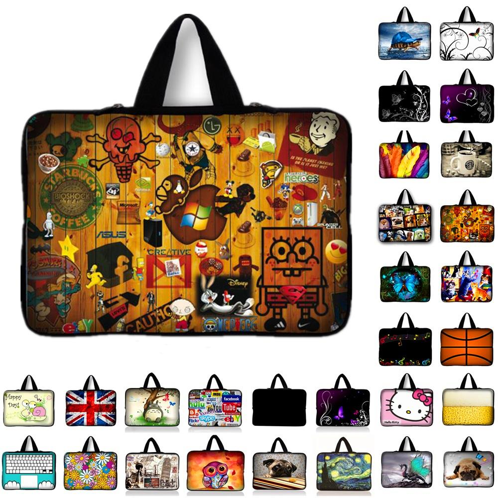 7 10 11.6 13 13.3 14.4 15.4 15.6 17.3 17.4 inch spongebob laptop bag netbook sleeve case computer notebook cover pouch Y1