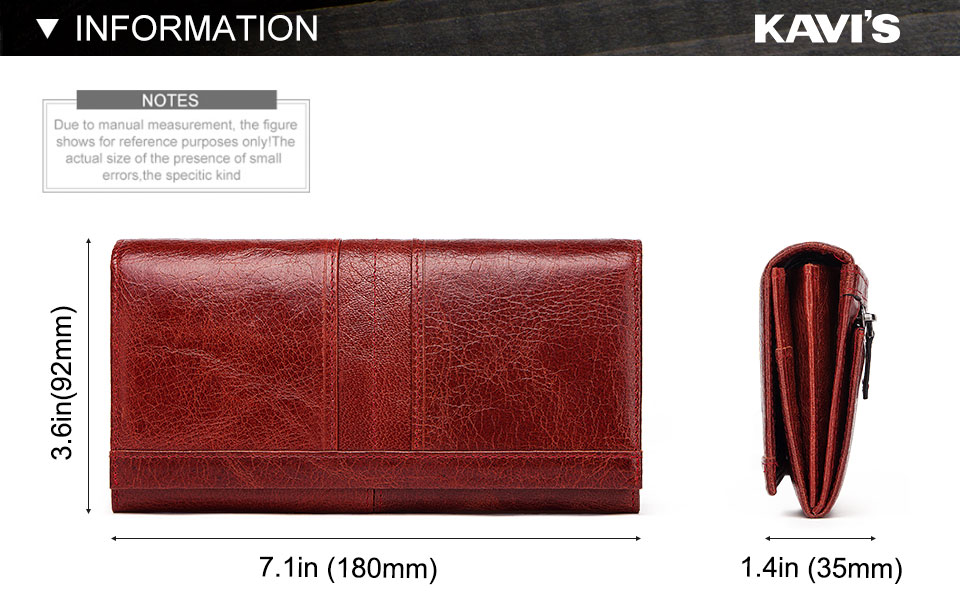 HTB1xyCGbozrK1RjSspmq6AOdFXa5 - KAVIS Genuine Leather Women Clutch Wallet and Female Coin Purse Portomonee Clamp For Phone Bag Card Holder Handy Passport walet