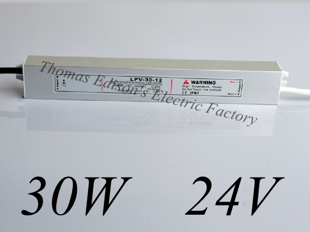 все цены на DIANQI waterproof power supply 30w 24V power suply 24v 30w ac dc converter  good quality water proof онлайн
