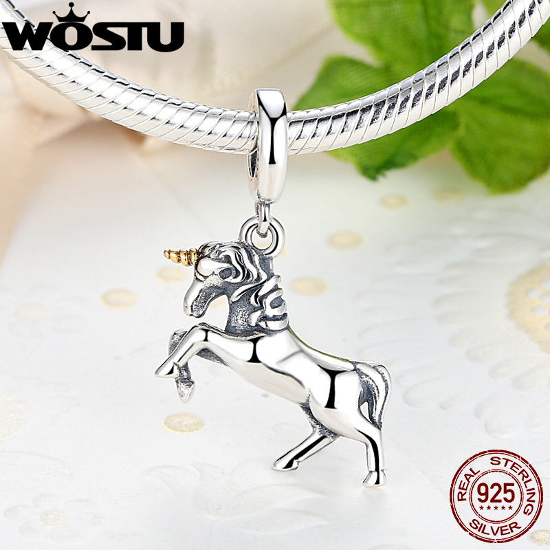 Luxury 925 Sterling Silver Free Spirit Horse Original Charm Fit WST Bracelet Pendants Authentic Jewelry authentic luxury