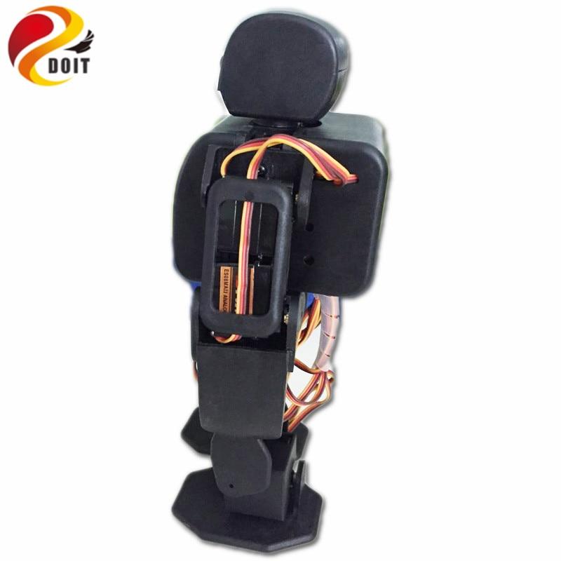 DOIT 18 DOF humanoid Biped Robot Educational Robot Kit Servo Staffa Con 18pcs Servo per la Danza/Lotta da ESP8266 fai da te giocattolo del rc-in Action figure e personaggi giocattolo da Giocattoli e hobby su  Gruppo 2
