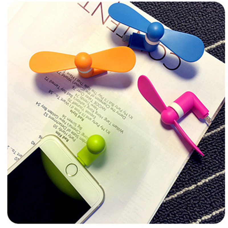 Mini Portable Phone Fan Handheld Fan Micro USB Gadget Flexible Convenient Fan For ISO Phone Portable Summer Air Conditioning usb and micro usb phone fan