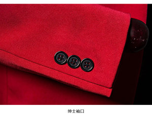 Image 5 - تصميم جديد للرجال من PYJTRL سترة بتصميم كلاسيكي مرصعة بالكريستال وطية صدر السترة باللون الأحمر بقصة ضيقة مناسبة لحفلات الزفاف