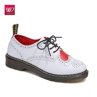 2017 Vivident Genuine Leather Ankle Boot Woman Brogue Lace Up Superstar Lolita Shoes Oxfords Fashion Classic