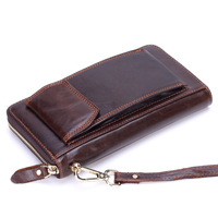 2018 New Luxury Designer Real Cow Genuine Leather Men's Wallets for Credit Card Holder Clutch Wristlet Bags Coin Purse Handmade