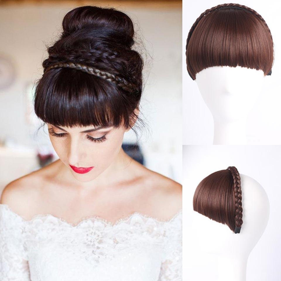 1pc Multi color Bangs Natural Fake Hair Extension ...