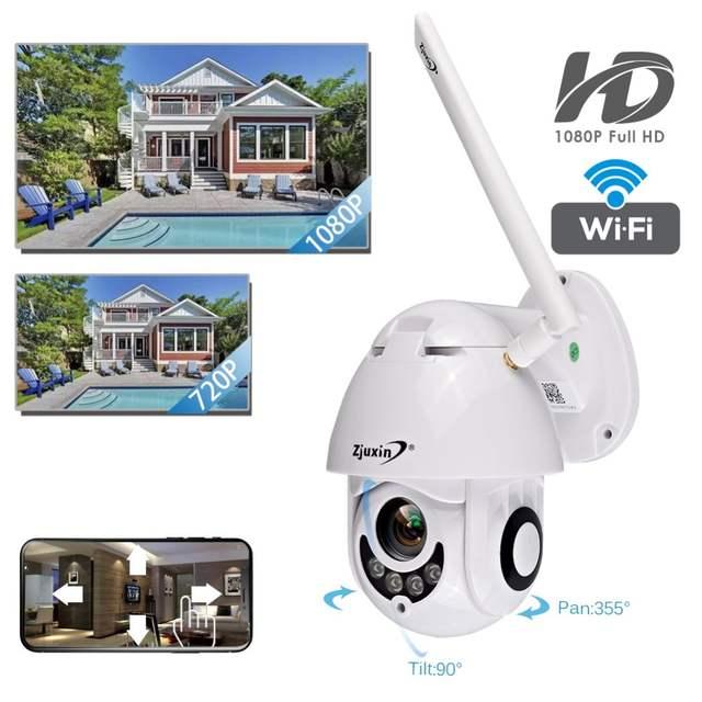 US $45 44 16% OFF IP Camera wifi outdoor speed dome 1080p PTZ Onvif Camera  360 Pan Night vision cctv IR IP66 p2p video camaras de vigilancia -in