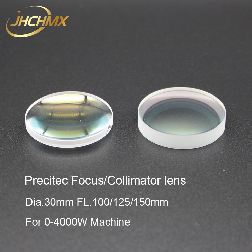 JHCHMX Precitec Fiber Laser Focusing Collimator Lens Dia 30mm FL 100 125 150mm 0 4000W For