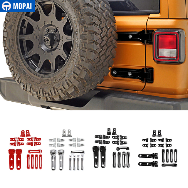 MOPAI Car Stickers for Jeep Wrangler 2018+ Spare Tire Hinge Door Handle Hinge Decoration Cover for Jeep Wrangler JL Accessories