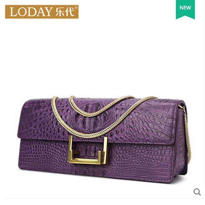 ledai ladies  crocodile leather women chain bag single shoulder bag  female bag 2017 new yuanyuqiiandian thai crocodile female bag imported crocodile leather single shoulder bag ladies fashion women long chain bag