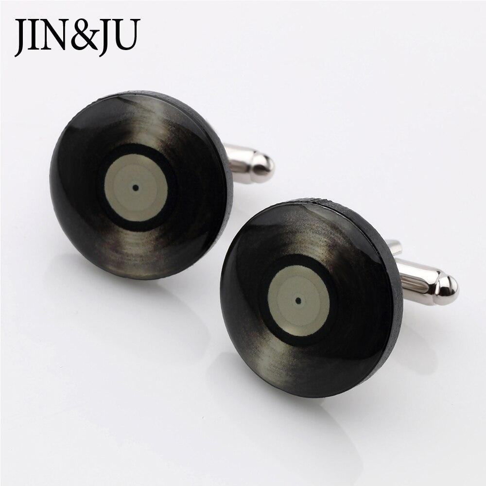 buy jin ju vinyl records design cuff links for mens hot sale round vintage. Black Bedroom Furniture Sets. Home Design Ideas