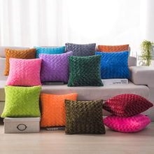 Solid Color Short Fur Plush Cushion Cover Soft Warm Luxury Throw Pillows Cushion Case font b