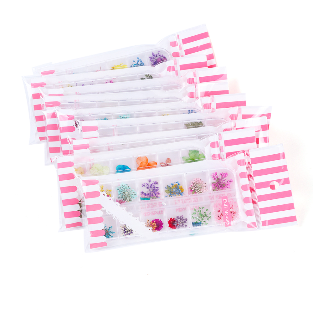 Mix Dried Flowers Nail Decorations Jewelry Natural Floral Leaf Stickers 3D Nail Art Designs Polish Manicure Accessories (24)