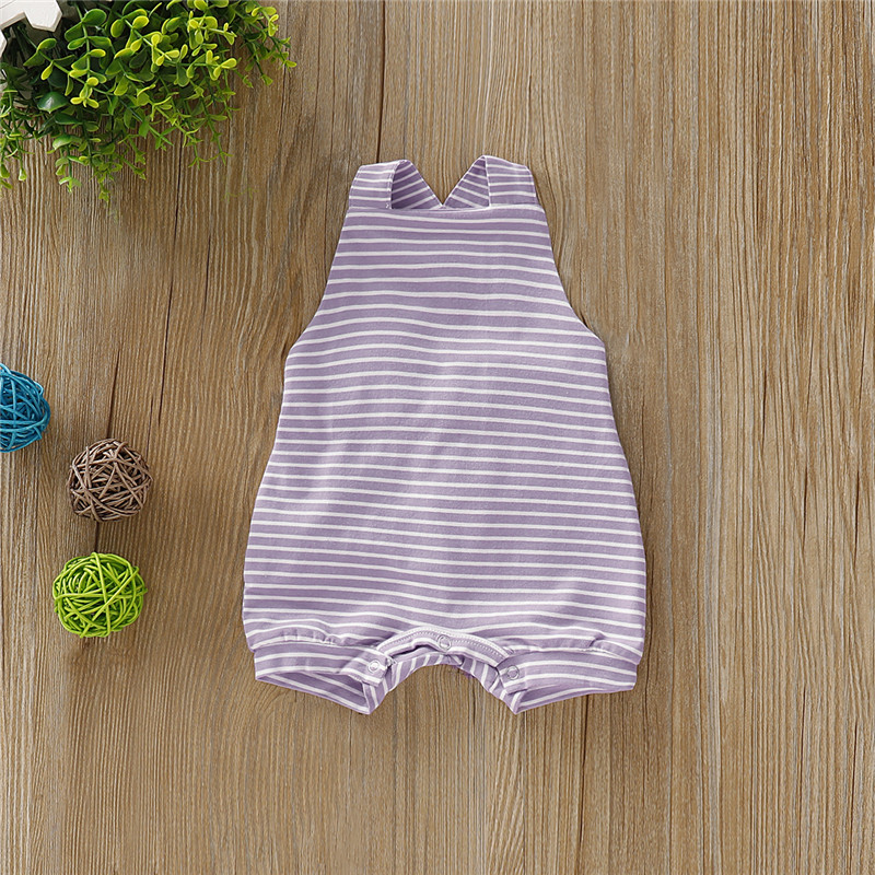 Fashion Baby Boy Girls Striped Romper Summer Toddler Cute Sleeveless Backless Jumpsuits Kid Lovely Unisex Newborn Fashion Baby Boy Girls Striped Romper Summer Toddler Cute Sleeveless Backless Jumpsuits Kid Lovely Unisex Newborn Infant Clothes