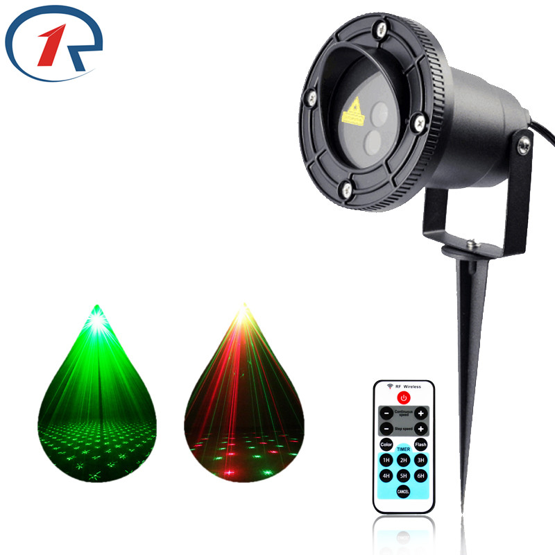 ZjRight Remote control Red Green Twinkling Laser Light Waterproof IP65 outdoor projection lamp Bar DJ party