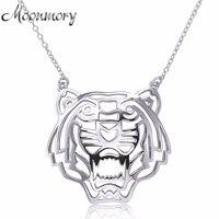 Moonmory Châu Âu Ưa Thích S925 Sterling Silver Medium Hổ Hình Chuỗi Pendant Necklace Animal Mặt Dây Chuyền Bạc Phụ Kiện Trang Sức
