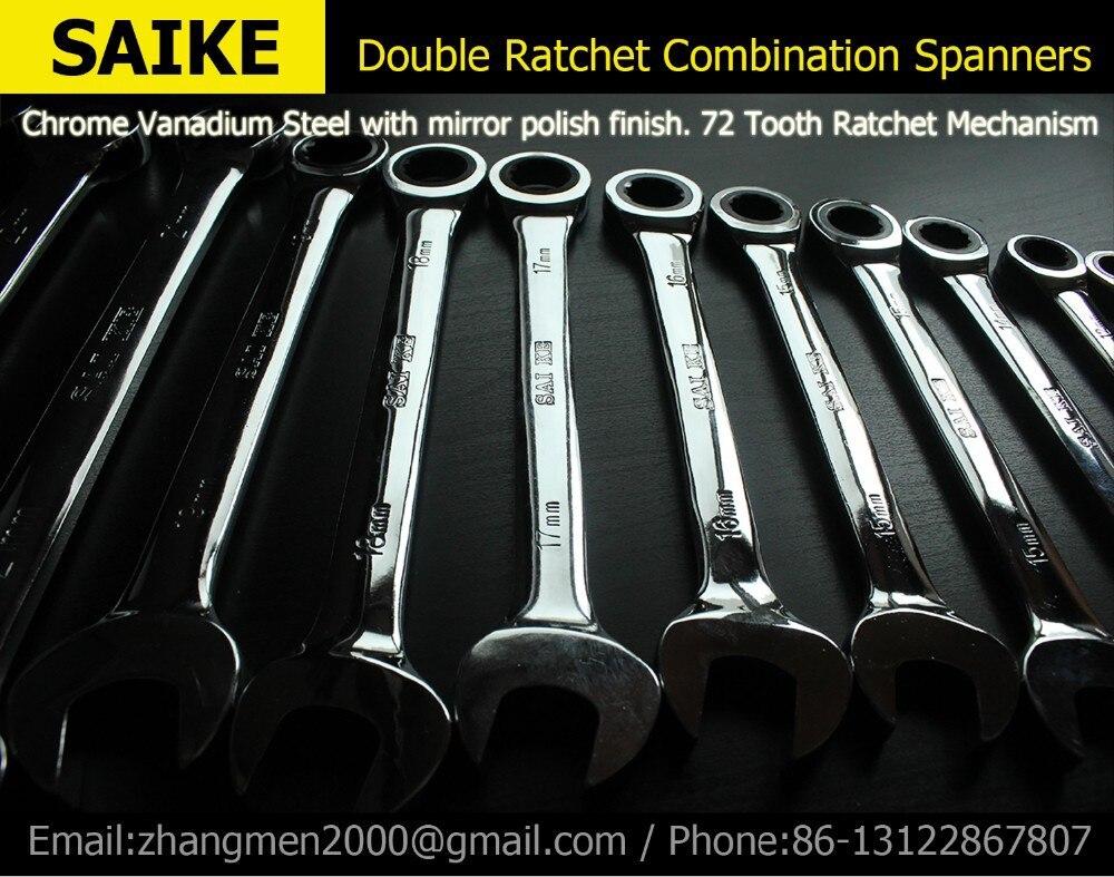 Ingyenes házhozszállítás Ratchet kombinált metrikus csavarkulcskészlet kézi szerszámok anyacsavar nyomatékhoz és fogaskerekes csavarkulcshoz és egy kulcskészlet