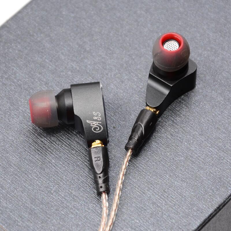 LZ A3S 2BA + 1DD híbrido 3 en la unidad de la oreja los Auriculares auriculares HIFI auriculares de Metal auricular desmontable con separar MMCX Cable