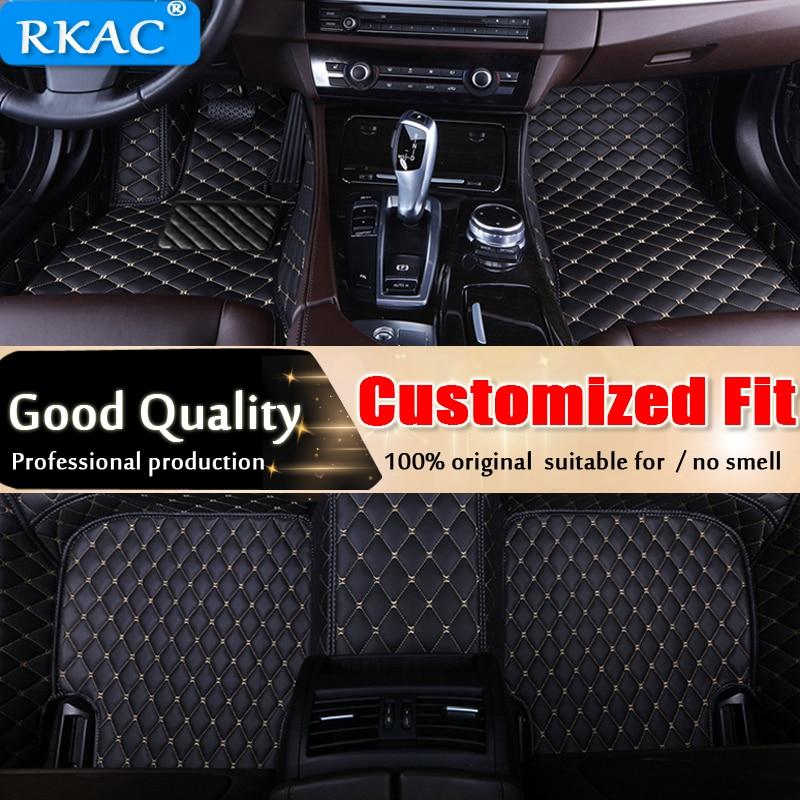 Car Floor Mats For Hyundai Santa Fe DM 5 Seats 2013-2017 Full Set All Weather Waterproof Car Mats 3D Carpets 2015 2016 LHD