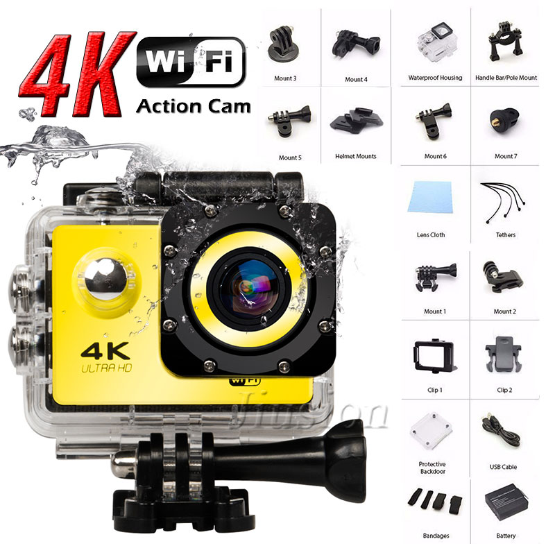 Wifi 4K Ultra HD Mini Camera Sports Action Camcorder DVR Video Audio Recorder Outdoor Helmet Micro Cam with Waterproof Case все цены