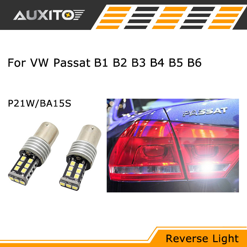 2x For VW Passat B6 B5 B3 B4 B1 B2 Canbus no error backup reverse light lamp P21W 1156 BA15S LED 3535 Chip High Power куликова козлова дошкольная педагогика