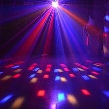 цены Stage Lights Effects Led Stagse Lamps Laser Light DMX 14 Modes Disco Lights DJ Bar Lamp Sound Control Music Stage Lights Effects