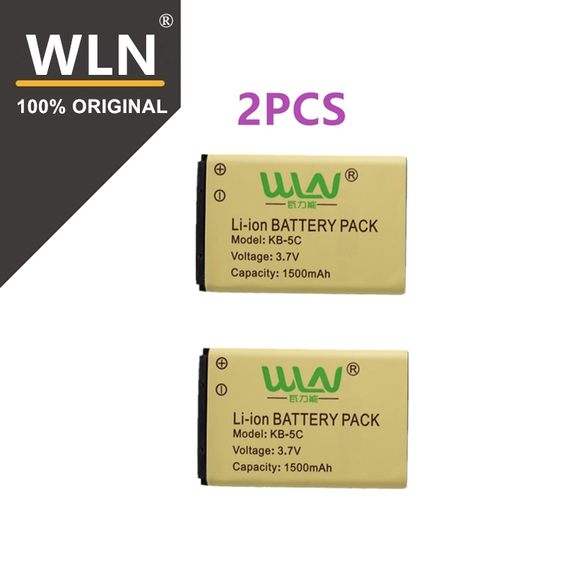 2PCS 100% Original Rechargable Li ion Battery Pack for WLN KD C1 Two Way Radio KD C2 1500mah KB 5C Kaili Walkie Talkie Battery-in Walkie Talkie from Cellphones & Telecommunications