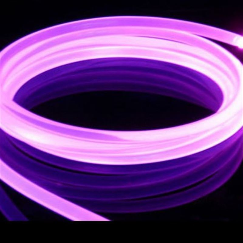 10mX 12mm Diameter Supper Transparent Solid Core Side Glow Fiber Optic Cable For Swimming Pool Free Shipping