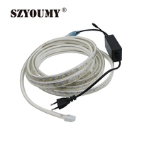 SZYOUMY 220V LED Strip Rope Light 5630 5730 SMD Dual White Dimmable Waterproof IP67 Under Cabinets DIY Party Lighting 120 Leds/M