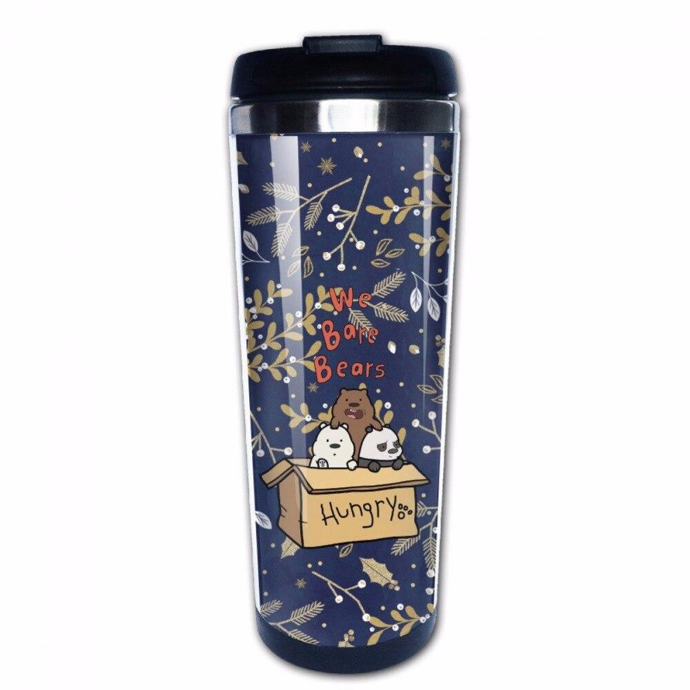 We Bare Bears DIY Stainless Steel Coffee Mug Leak Proof Travel Cup ...