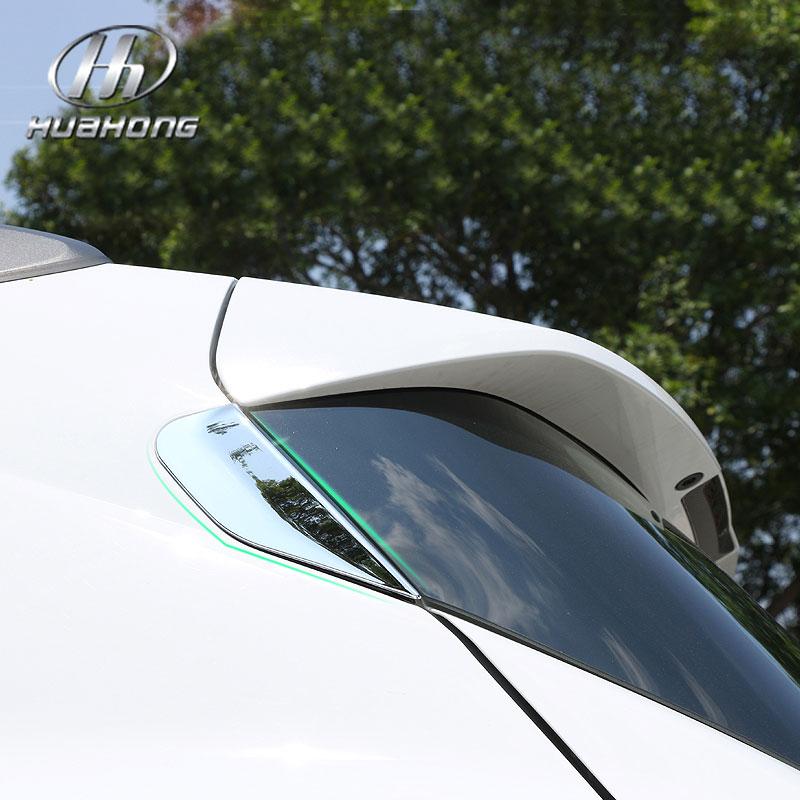 Prix pour Pour Opel Mokka arrière Spoiler décoration arrière fenêtre couverture Extérieure Chrome Styling ABS voiture de coiffure accessoire produits 2013-2015