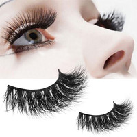 100% Brand New High Quality 1 Pair Crisscross 3D False Eyelashes Cosmetic Long Thick Natural Fake Eye Lashes For Party Daily Use Beauty Essentials