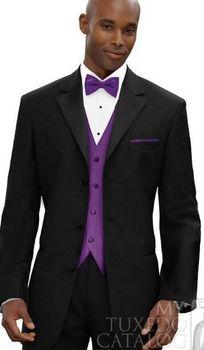 Custom Made New Style Men Business Suit Black White Three Buttons Men's Suit Wedding Groom Groomsman Suit Men Suit