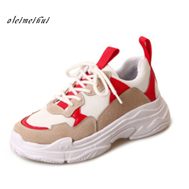 Formateurs Grils Tenis Sneakers Feminino Mesh Muje Coins De Jaune Rouge 2018 Zapatos Femmes Air Femme Mode Toile Sport Chaussures jaune x7w5nOqR18