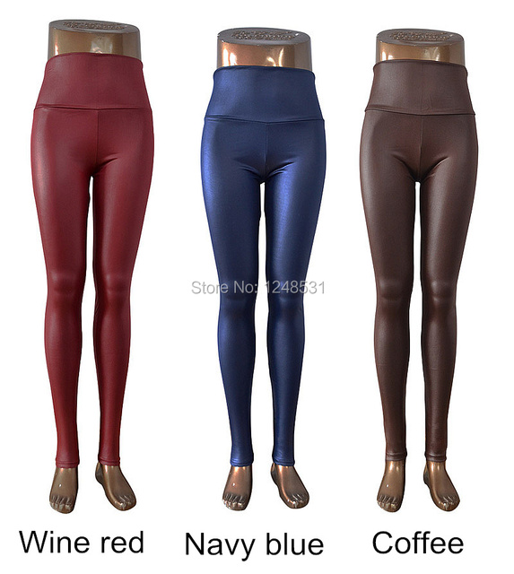 Sexy Skinny Faux Leather High Waist Leggings Pants XS/S/M/L/XL 12 colors