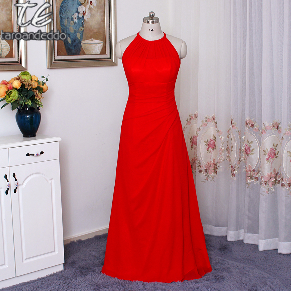 Online shop long red chiffon bridesmaid dress with illusion halter online shop long red chiffon bridesmaid dress with illusion halter neckline f15662 a l ine wedding party dress formal dresses aliexpress mobile ombrellifo Images