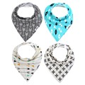 4PCS/Lot baby bibs babador cotton boys girls bavoir infant bavoir cloth cachecol infantil newborn cross arrow design baberos