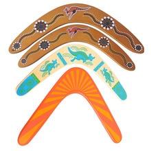 Дървена професионална връщаща се летяща чиния на открито Спортна екипировка за деца Детски играчки V Летящ диск на бумеранга