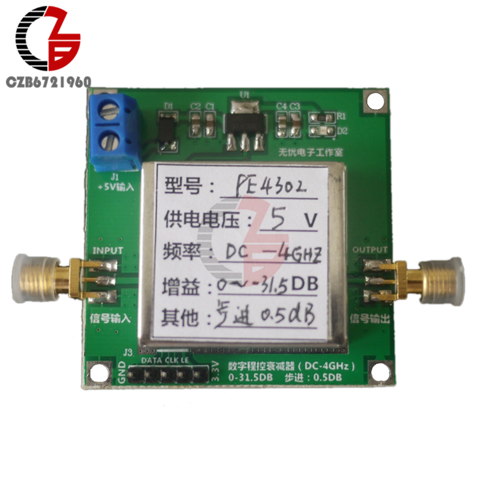 где купить PE4302 Digital RF Step Attenuator Module High Linearity 5V 4GHz Stepping 0.5dB RF DSA дешево