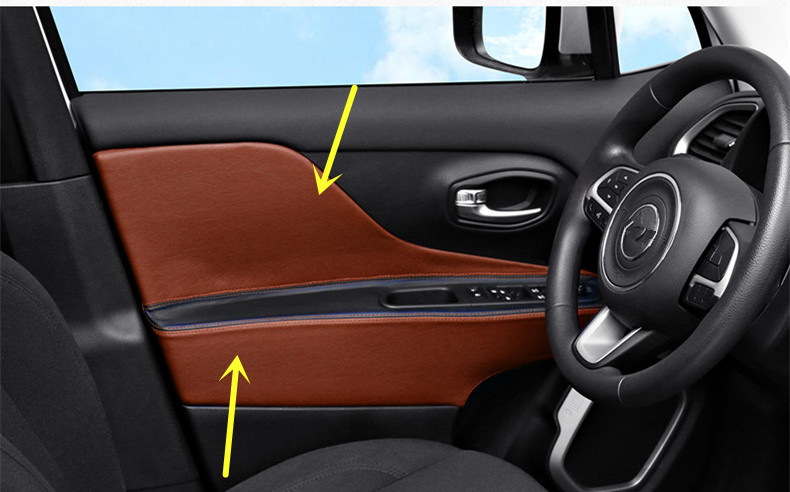 Jeep Renegade Interior >> Us 52 66 4pcs Set Interior Door Panel Armrest Cover For Jeep Renegade Microfibre Leather Ab220 In Interior Mouldings From Automobiles Motorcycles