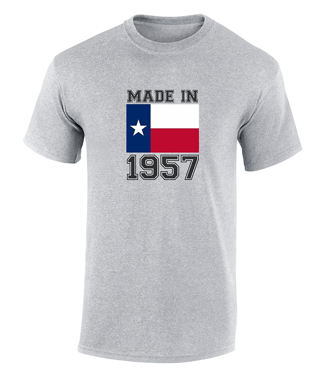 Happy 60th Birthday Gift T Shirt With Made In Texas 1957 Graphic Print Novelty Cool Tops Men Short Sleeve Tshirt