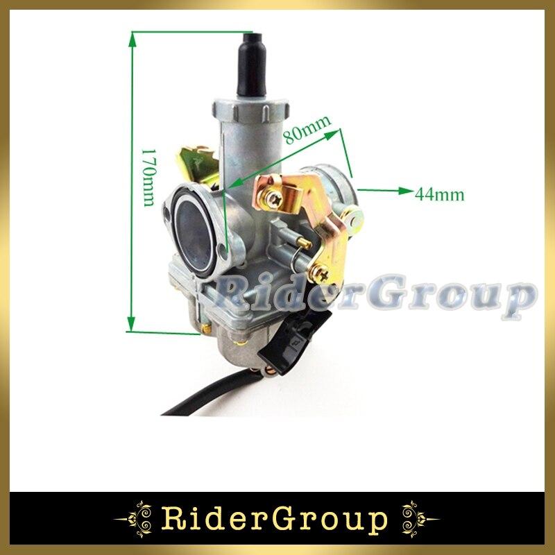 Keihin 30mm PZ30 Carb Acceleration Pump Carburetor For 200cc 250cc Engine Pit Dirt Motor Bike Motorcycle ATV Quad