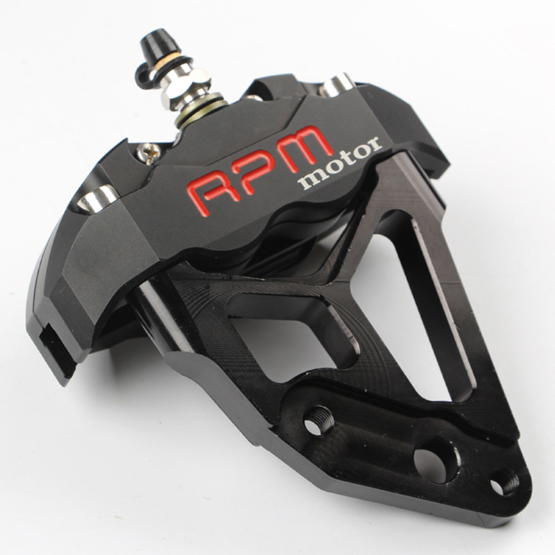 RPM Brand CNC Motorcycle Scooter 30mm Core Fork Brake Calipers+200mm 220mm Disc Brake Pump Adapter Bracket For Yamaha Pit Bike keoghs motorcycle rear hydraulic disc brake set diy modify cnc rpm brake pumb for yamaha scooter dirt bike motorcross motorbike