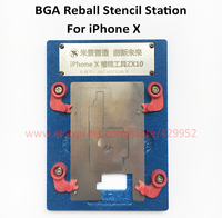 NAND BGA Reballing Stations Rework Stencils JIG Kit For IPhone X HDD Chip IC Flash Repair