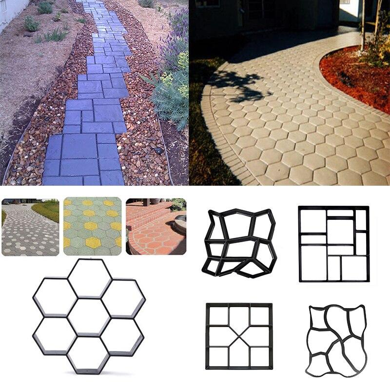 Garden Path Maker Mold DIY Paving Cement Brick Road Concrete  Patio Maker Mould