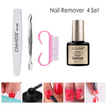 LULAA 4/7 Pcs Set Magic Gel Nail Polish Remover Cleaner Nail UV Gel Degreaser Liquid Remove Sticky Layer Manicure Tools(China)