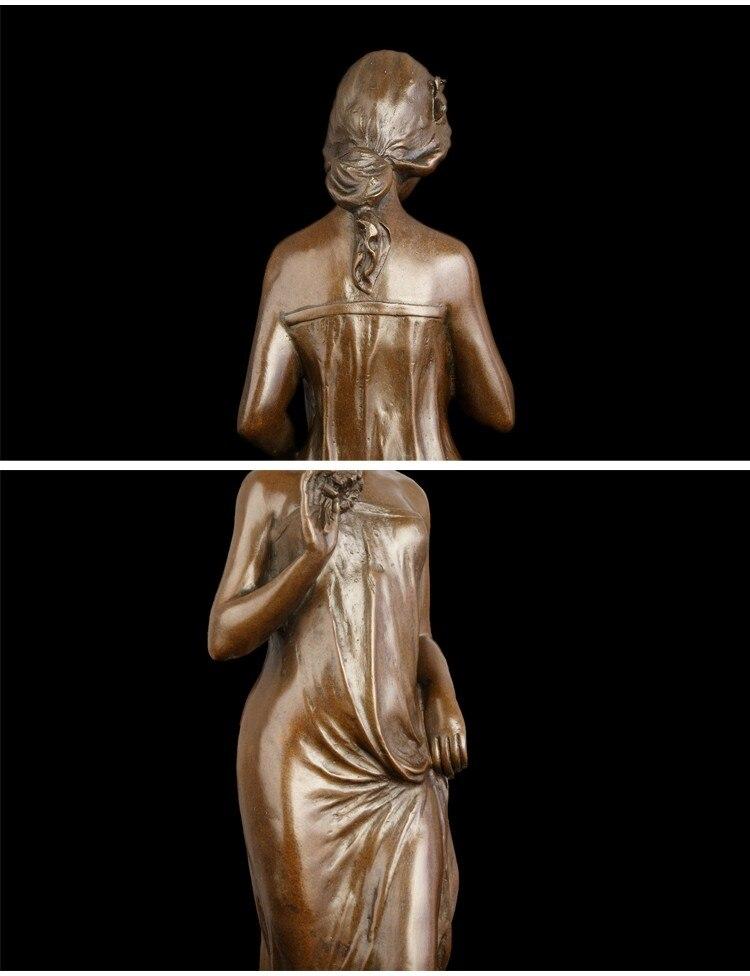 ATLIE Бронзовый Классический ручной работы женская статуя Западная женщина статуэтки Современная Скульптура искусство домашний декор коллекционная
